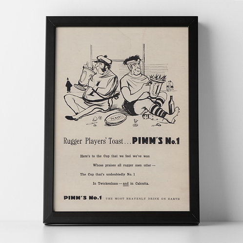 Pimm's Rugby Advert, 1952