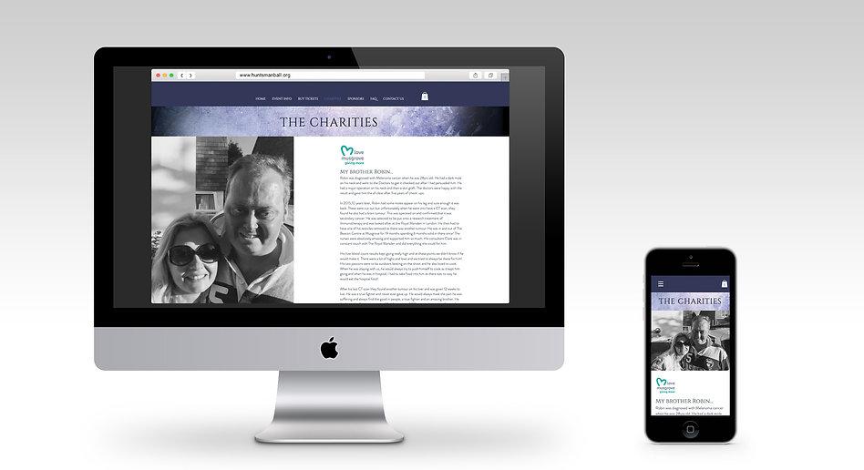 Huntsman website monitor and mobile mock