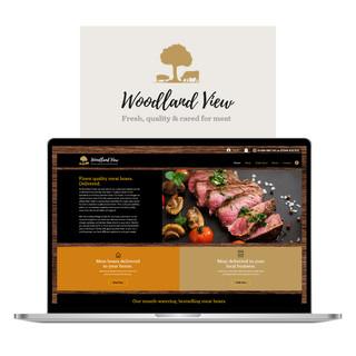 Woodland View Online Butchers website and branding