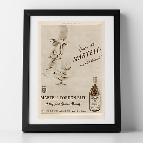 Martell Brandy Advert, 1954