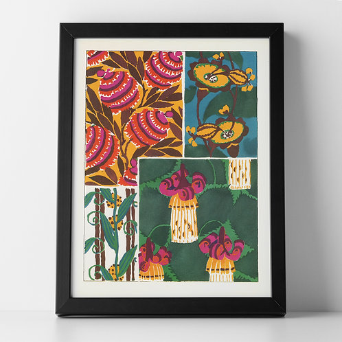 Retro 60's Botanical Abstract Art Print 2