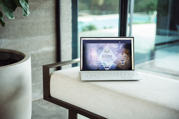 website for charity ball event on laptop designed by Jellicoe Creative www.jellicoecreative.co.uk