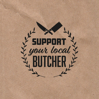 DB Foods Support Your Local Butcher Campaign Branding