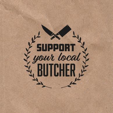 DB Foods Support Your Local Butcher Campaign Branding designed by Jellicoe Creative www.jellicoecreative.co.uk