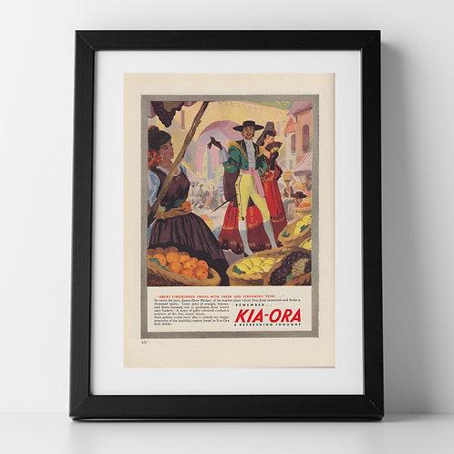 Kia Ora Advert from 1947 - Spanish Market