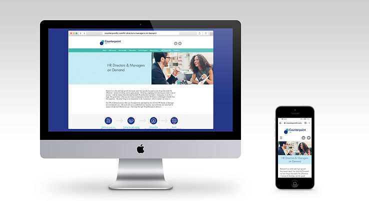 Counterpoint website monitor and mobile