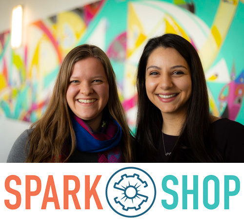 Tiernan Murrell (left) and Shonali Ditz (right) are Sparkshop's co-founders and directors. They both graduated from Northwestern's McCormick School of Engineering and went on to develop laser machinery and race cars. After working in industry, they were inspired to make engineering an approachable and attainable future for more students.
