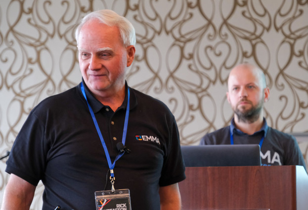 Rick Gustafson and Ethan Kennedy demonstrated all of the latest features of the EMMA Dues Accounting system.