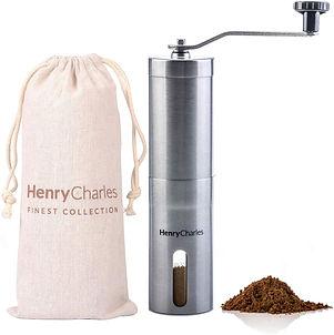 Henry Charles Manual Coffee Grinder Stainless Steel