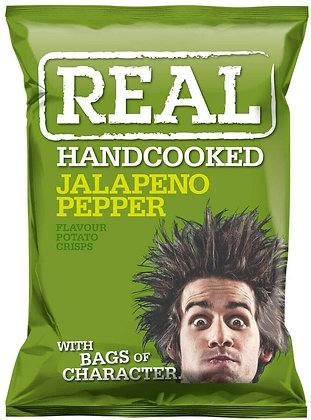 Real Handcooked Crisps - Jalapeno Pepper 35g