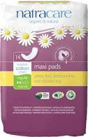NatraCare Maxi Pads - Pack of 12 - Organic Cotton
