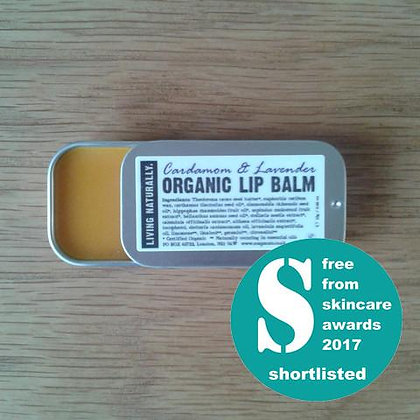 Organic Lip Balm - Cardamom & Lavender