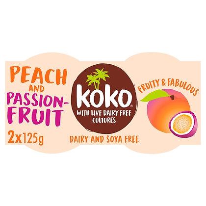 Koko Peach and Passionfruit Dairy Free Yoghurt - 2x125g