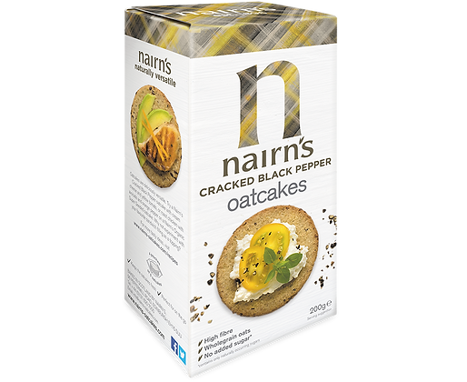 Nairns Cracked Black Pepper Oatcakes - 200g