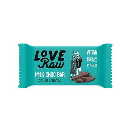 LoveRaw Salted Caramel M:lk Chocolate - 30g