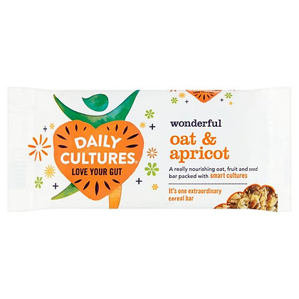 Daily Cultures Oat & Apricot Cereal Bar - 60g