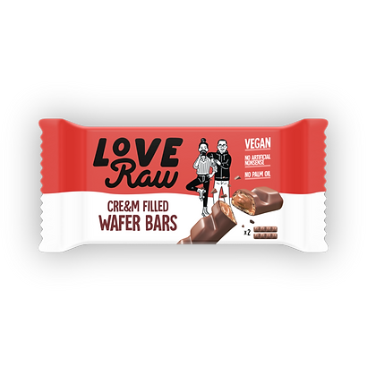 LoveRaw Vegan Cream-Filled Wafer - 43g