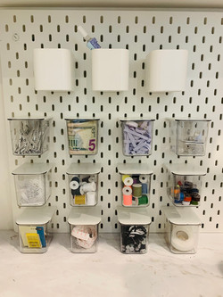 Ikea Canisters Craft Desk