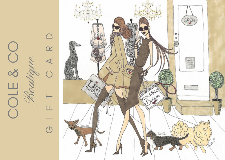 Gift Card for £25.00 to spend in Shaftesbury Boutique