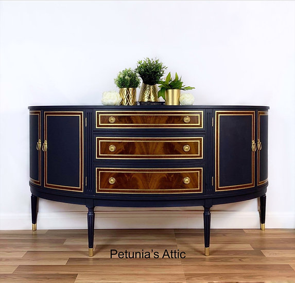 Bow Fronted Vintage Sideboard