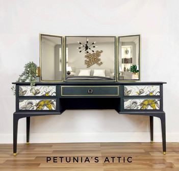 Stag Minstrel Dressing Table and triple mirror