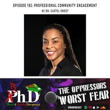 Episode 192: Professional Community Engagement w/ Dr. Castel Sweet