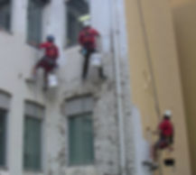 Rope Access Painting Abseiler