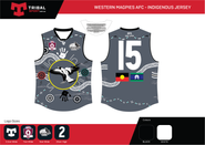 Western Magpies Indigenous round jersey