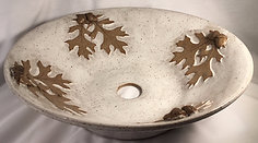 Arbor Oak Leaf vessel sink