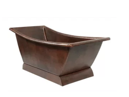 Hammered Copper Minoa Slipper tub