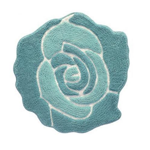 Rose bath rug