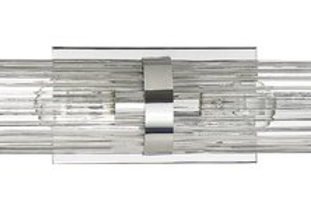 Cleo 2 Light Fluted Glass light bar