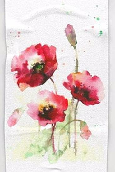 Poppy Watercolor towel set