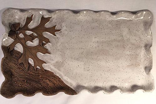 Arbor Oak w/acorns Tray-Rustic