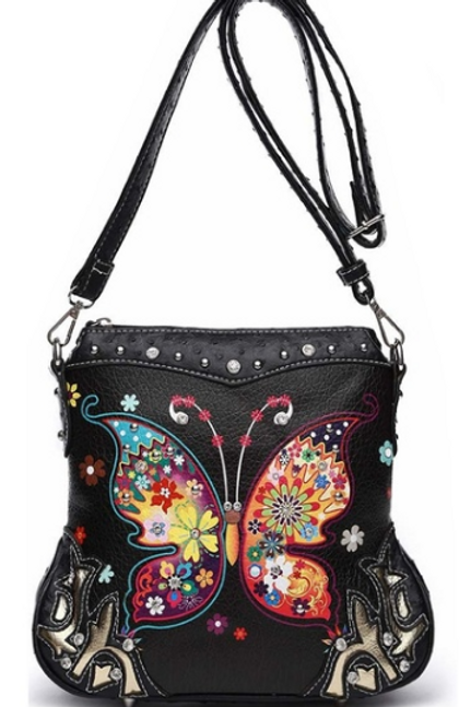 Leather Butterfly Bag (Long Strap)