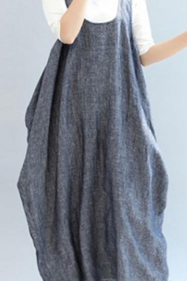 Pinafore Maxi Dress (3/4 Length)