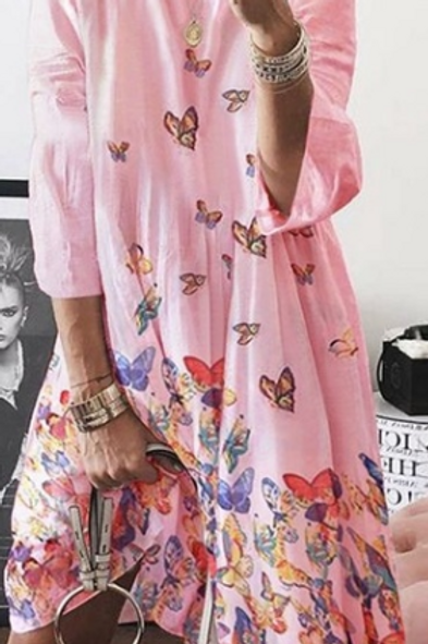 Butterfly Shift Dress