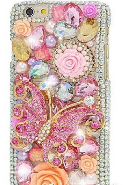 Pink Bling Butterfly Phone Case