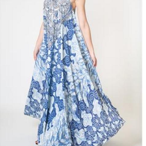 Blue Maxi Dress (Full Length)