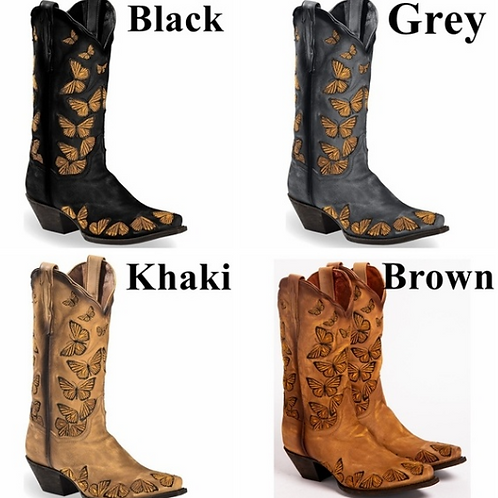 Butterfly Cowboy Boots