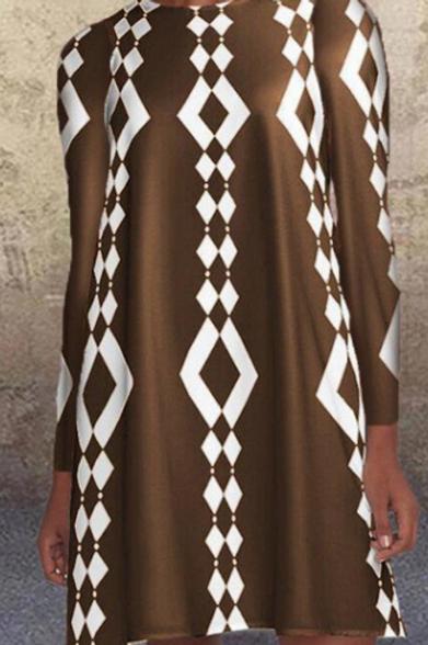 Printed Boho Knee Length Dress