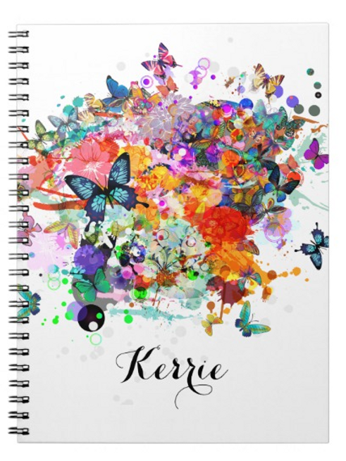 Butterfly Journal / Personalised (Blank Pages)