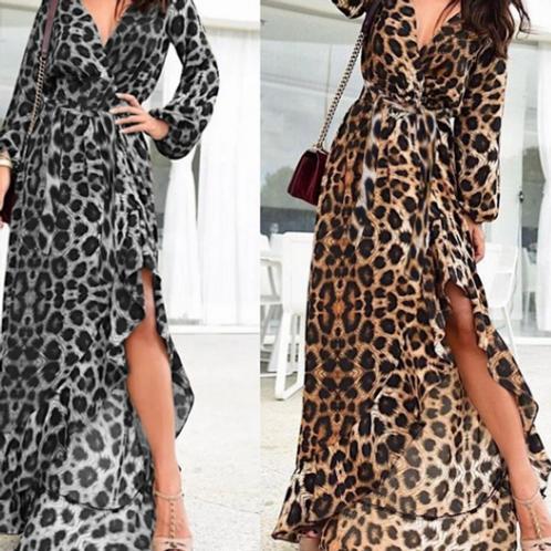 Leopard Wrap Dress (Full length)