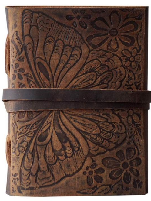 Butterfly Leather Embossed Journal (Blank pages)