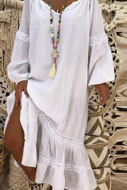 Casual Maxi Dress (3/4 Length)