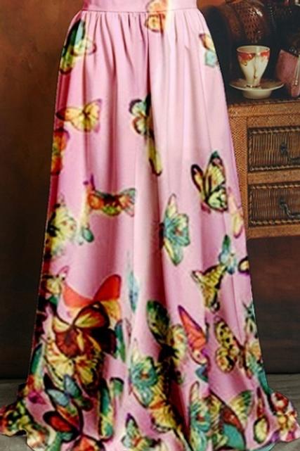 Butterfly Maxi Skirt
