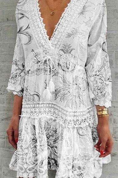 Peasant Boho Dress