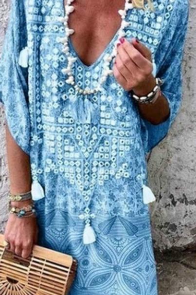 Boho Summer Dress (Mid Thigh)