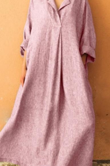Maxi Shirt Dress (Full Length)