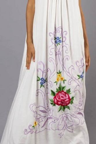 Floral Boho Summer Maxi Dress (Full Length)